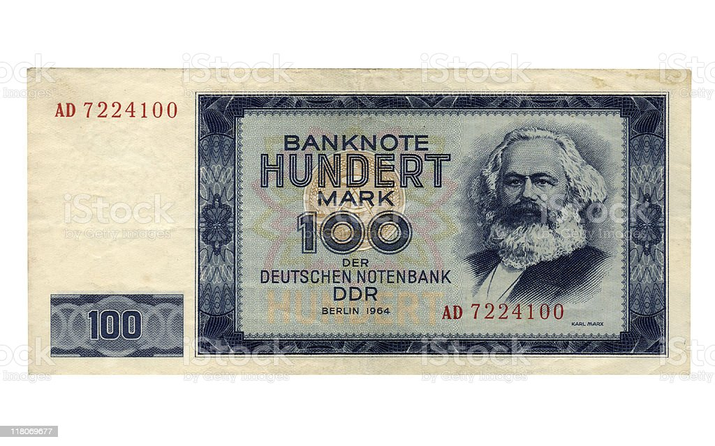 DDR banknote stock photo