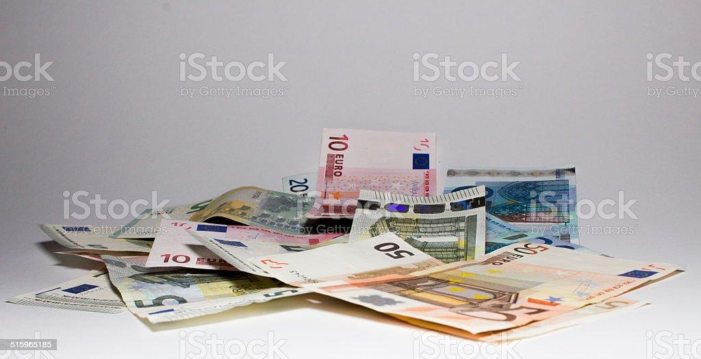 Banknoten Euro Scheine stock photo