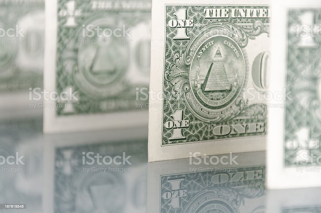 US banknotes $1 stock photo