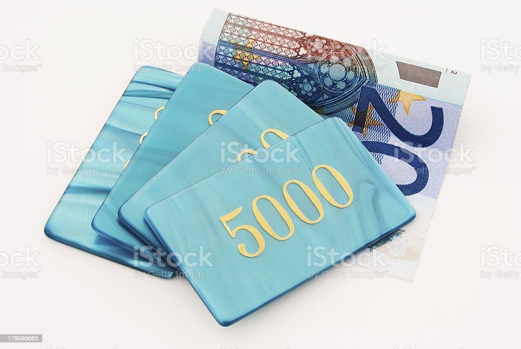 banknotes chips royalty-free stock photo