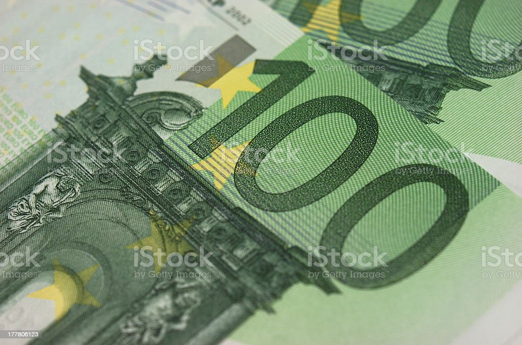 Banknotes, euros royalty-free stock photo