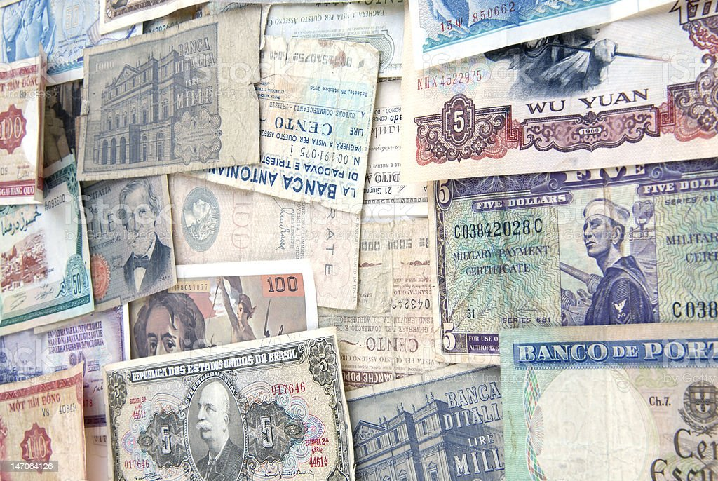 Banknotes from around the World royalty-free stock photo