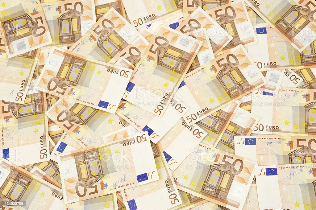 banknotes of 50 euro royalty-free stock photo