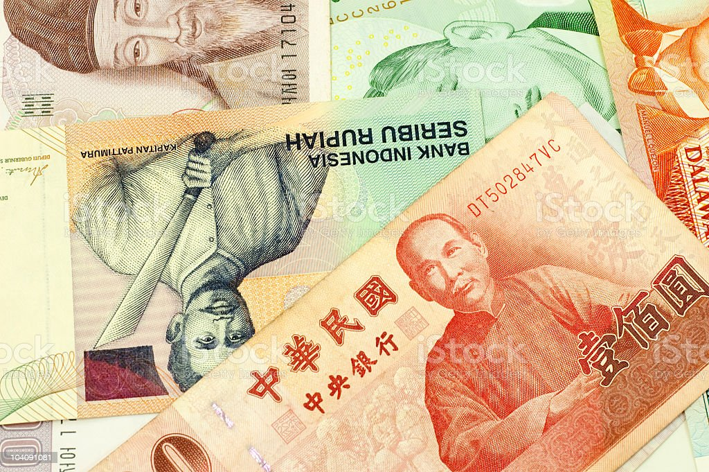 Banknotes of Asian countries. royalty-free stock photo