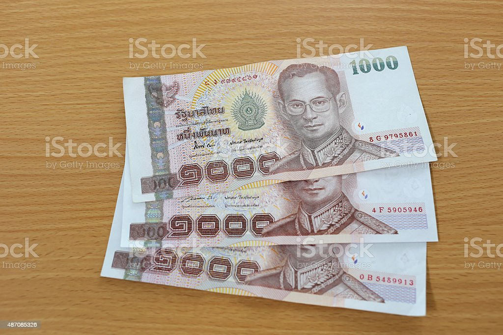 Banknotes of Thailand. stock photo
