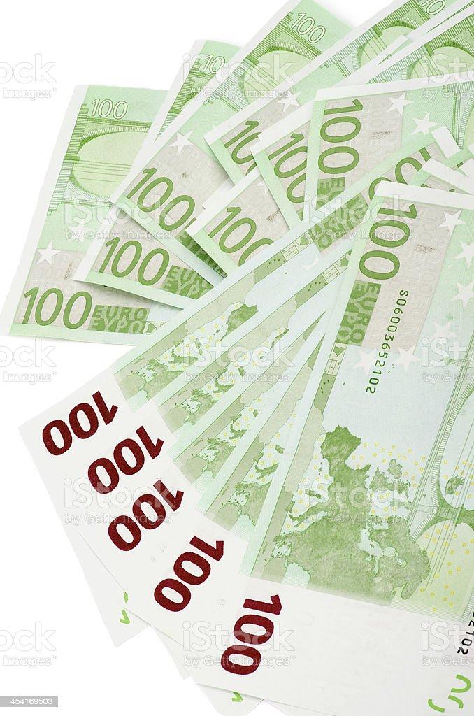 EU Banknotes royalty-free stock photo