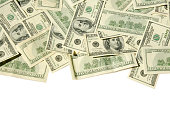 $100 banknotes (Clipping Path)