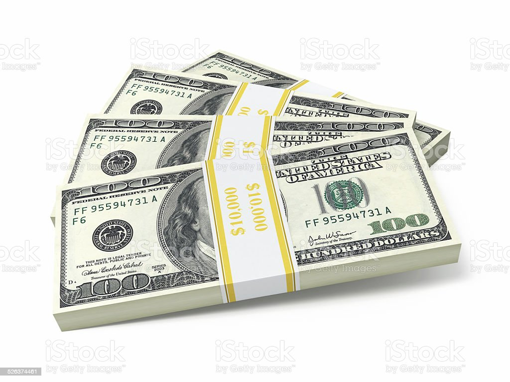 $100 banknotes stock photo