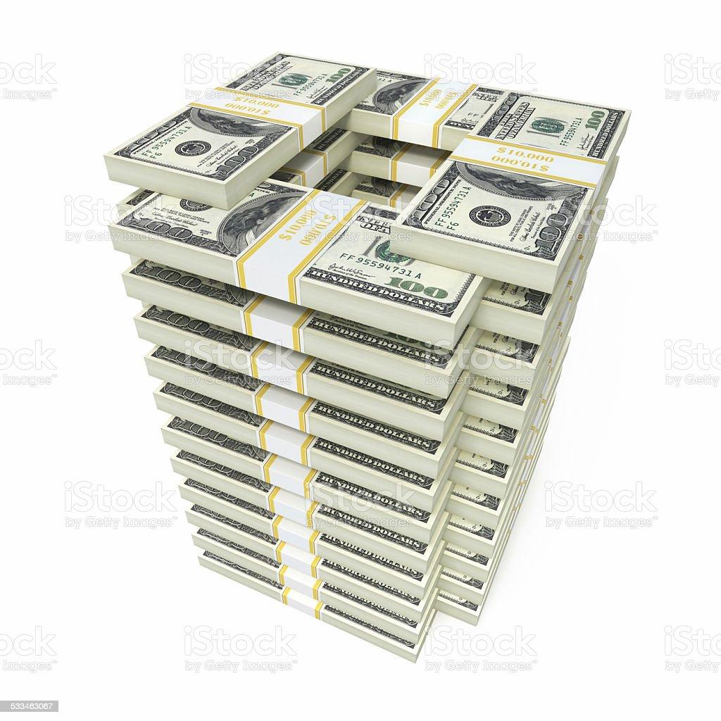 $100 banknotes stock photo