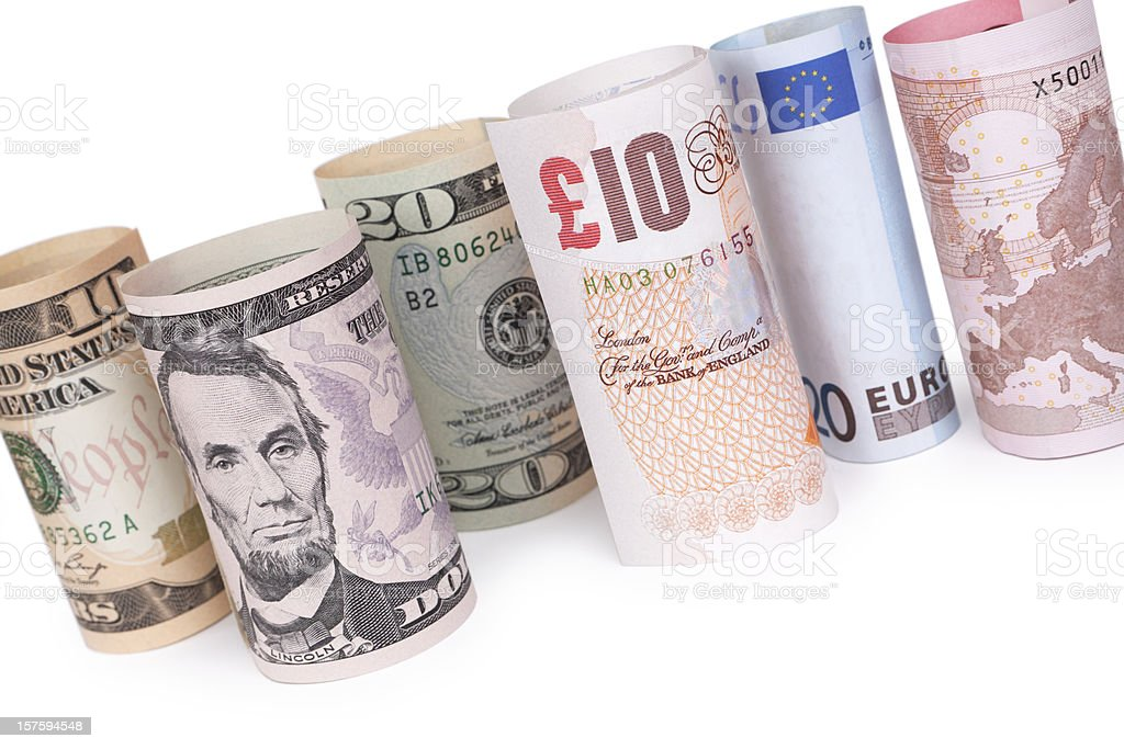 Banknotes - Rolled Up (XXXL) royalty-free stock photo