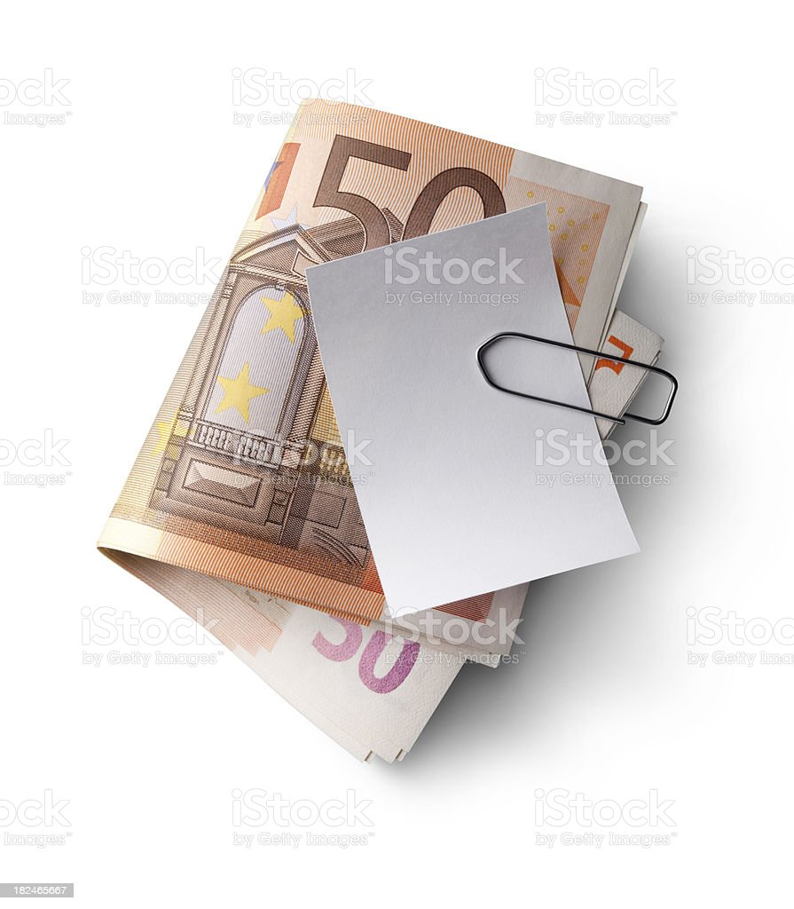 Banknotes with receipt stock photo