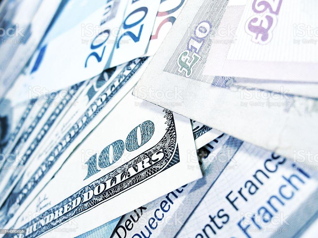 Banknotes - world money royalty-free stock photo