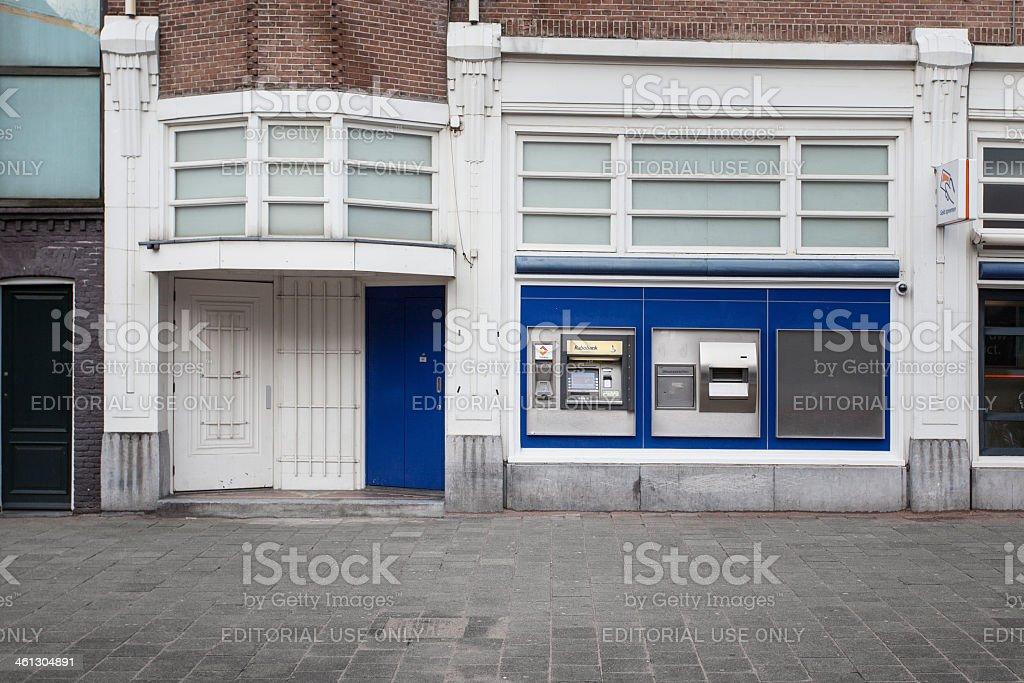 Bankomat, cashpoint - Rabobank, Amsterdam stock photo
