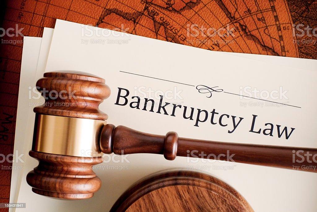 Bankrupcy Law stock photo