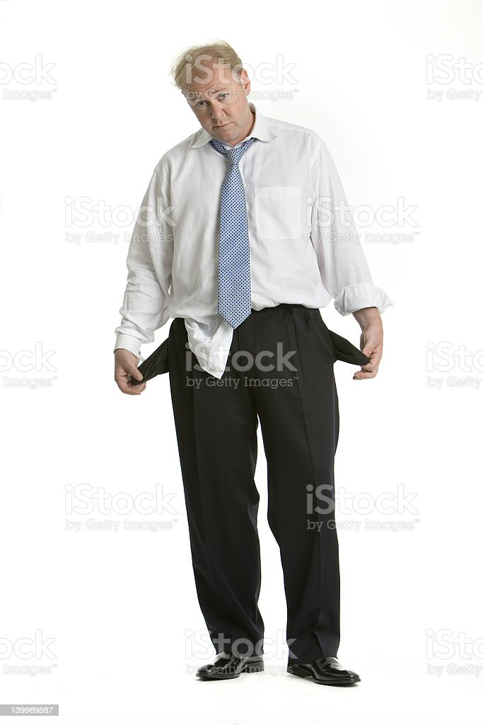Bankrupt business man royalty-free stock photo