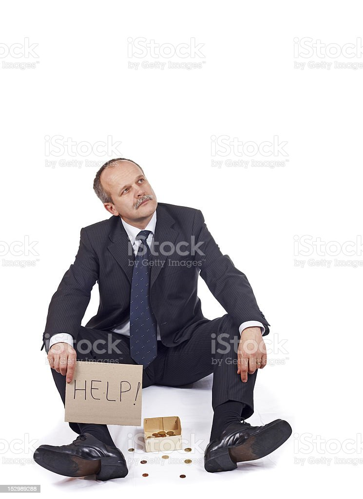 Bankrupt businessman royalty-free stock photo