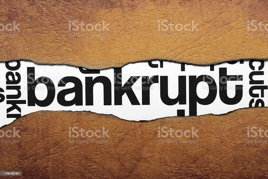 Bankrupt royalty-free stock photo