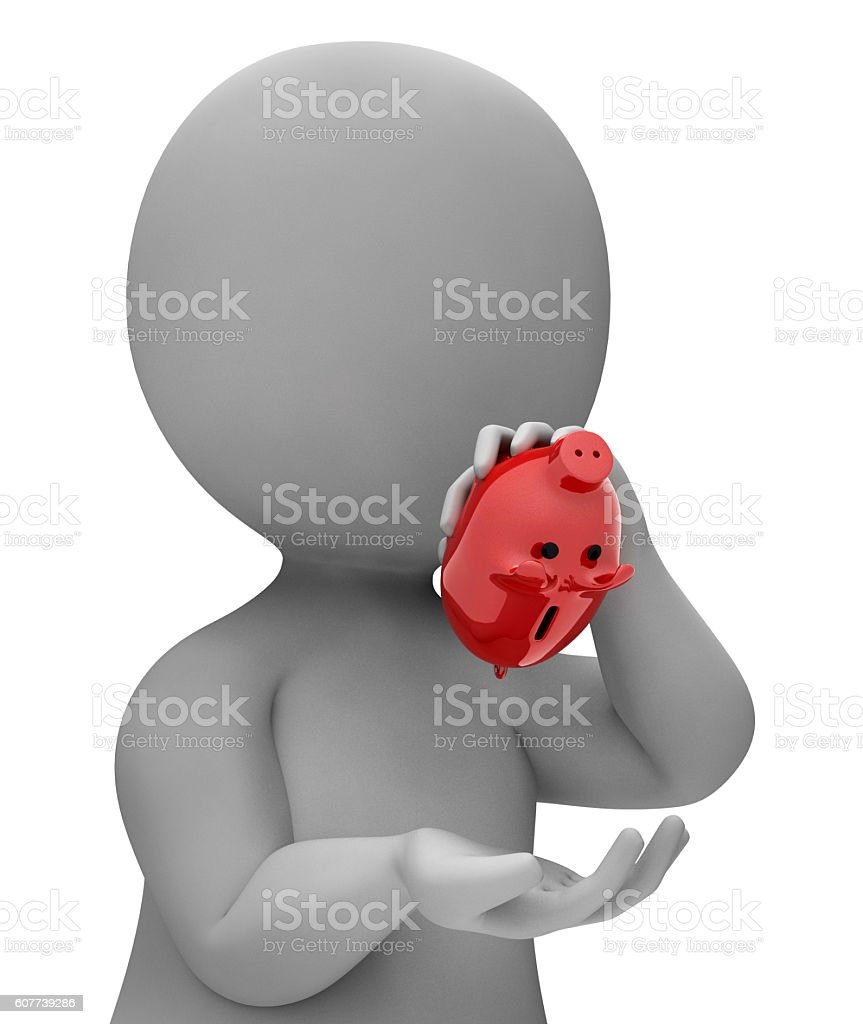 Bankrupt Save Represents Financial Problem And Banking 3d Render stock photo