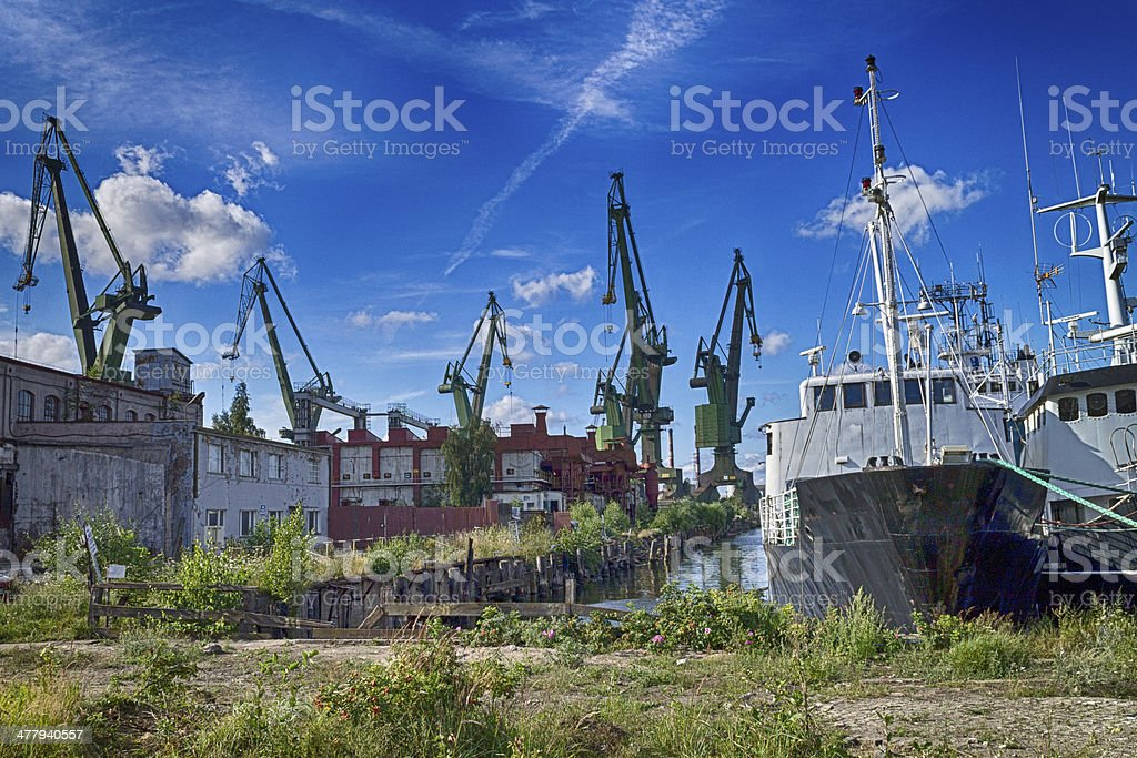 Bankrupt shipyard in Gdansk royalty-free stock photo