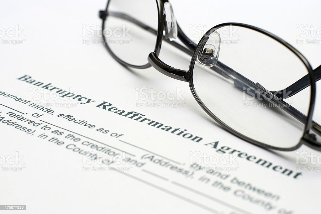 Bankruptcy agreement royalty-free stock photo