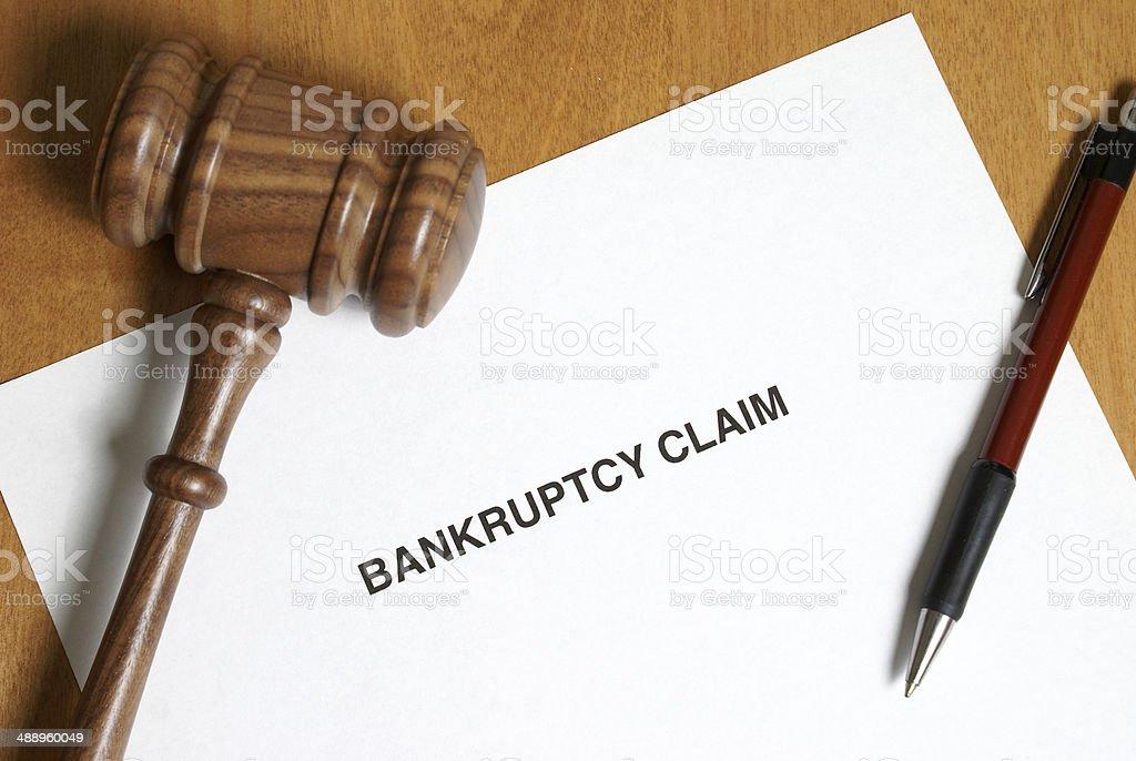 Bankruptcy Claim stock photo