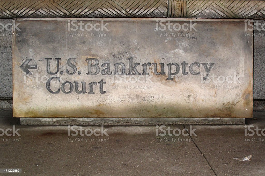 U.S. Bankruptcy Court Sign royalty-free stock photo