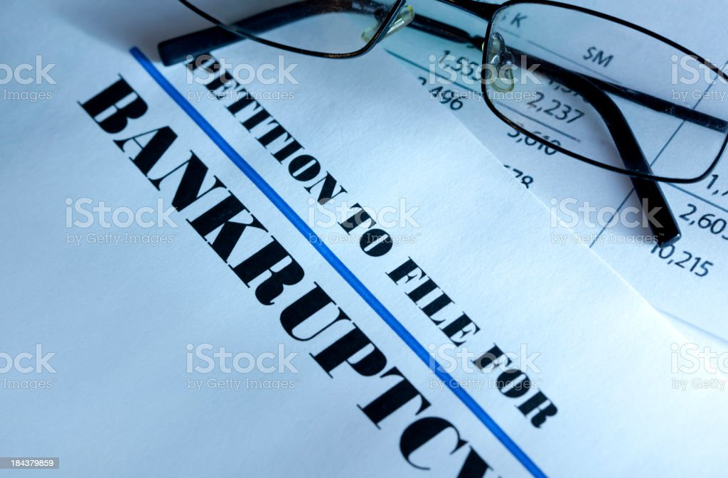 Bankruptcy kit royalty-free stock photo