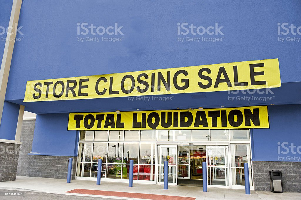 Bankruptcy Liquidation Sale royalty-free stock photo