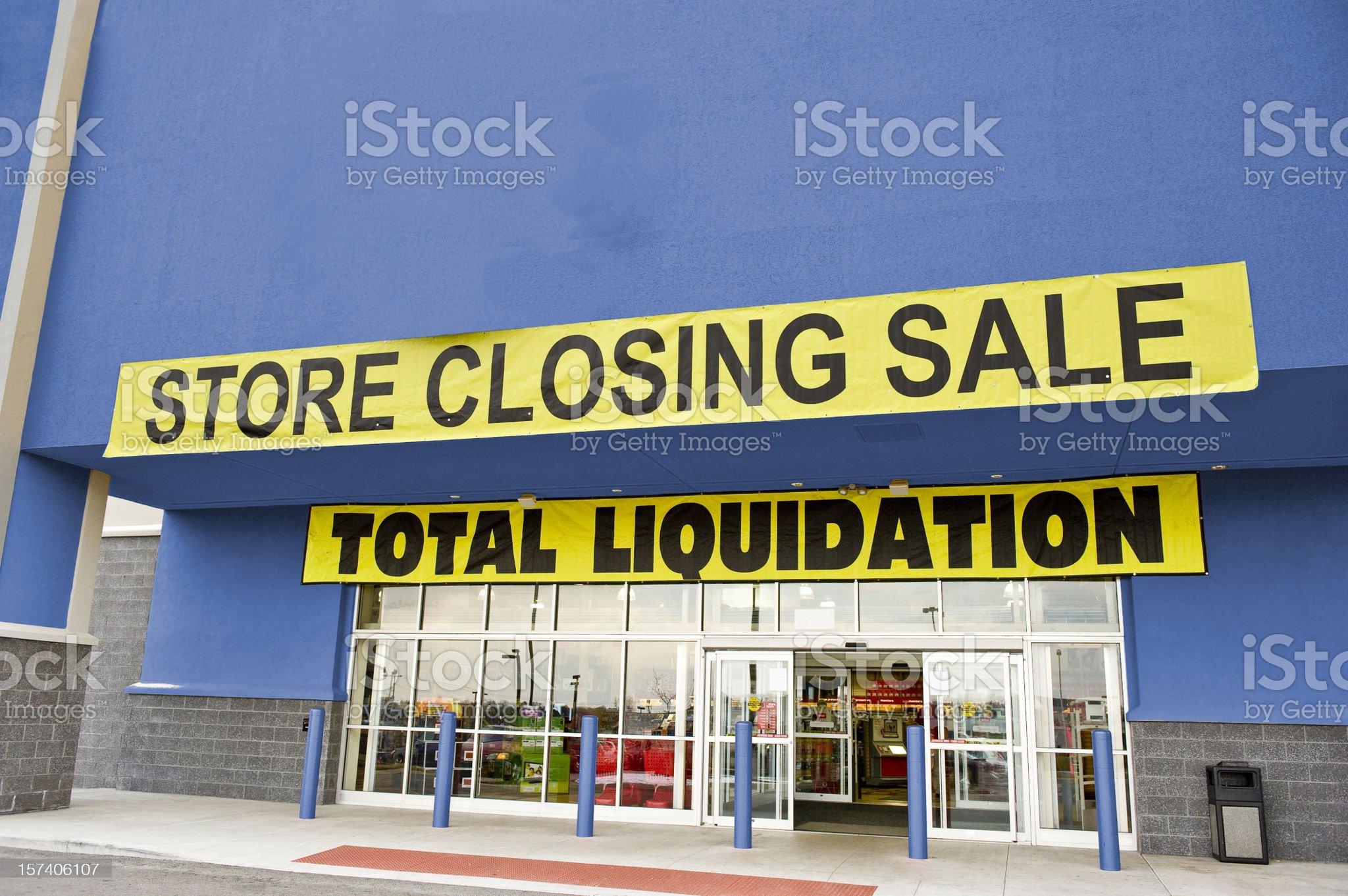Bankruptcy Liquidation Sale royalty-free stock photo