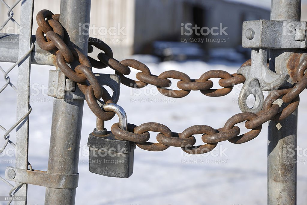Bankruptcy out of business royalty-free stock photo