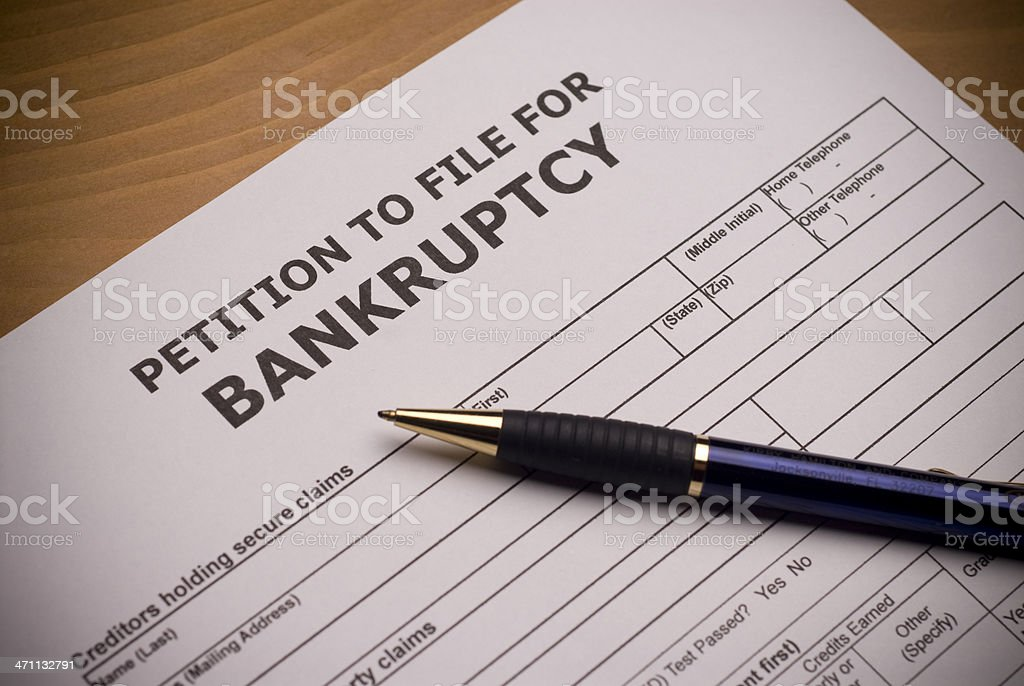 Bankruptcy Petition royalty-free stock photo