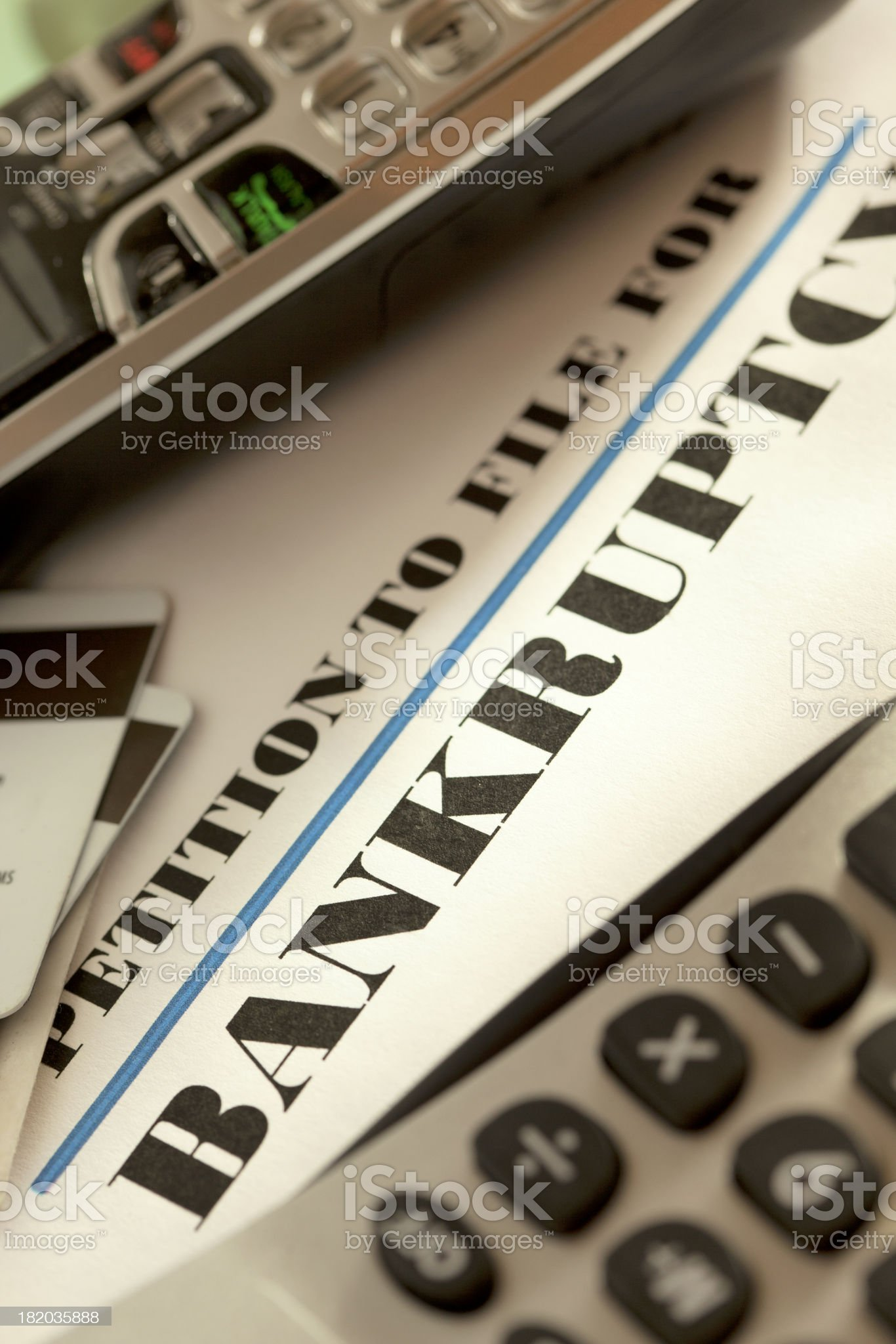 Bankruptcy royalty-free stock photo