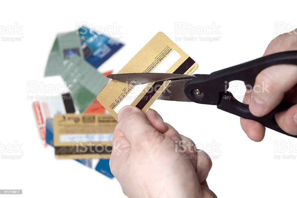 Bankruptcy - too much credit ! stock photo