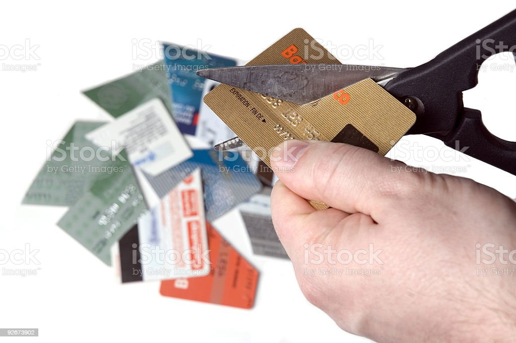 Bankruptcy - too much credit ! royalty-free stock photo