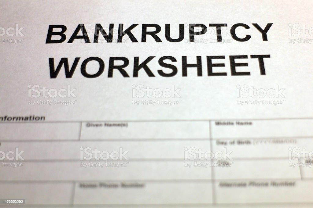 Bankruptcy Worksheet Photos Getadating – Bankruptcy Worksheet