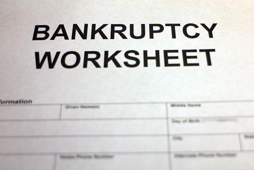 Worksheet Bankruptcy Worksheet pictures images and stock photos istock bankruptcy worksheet header photo