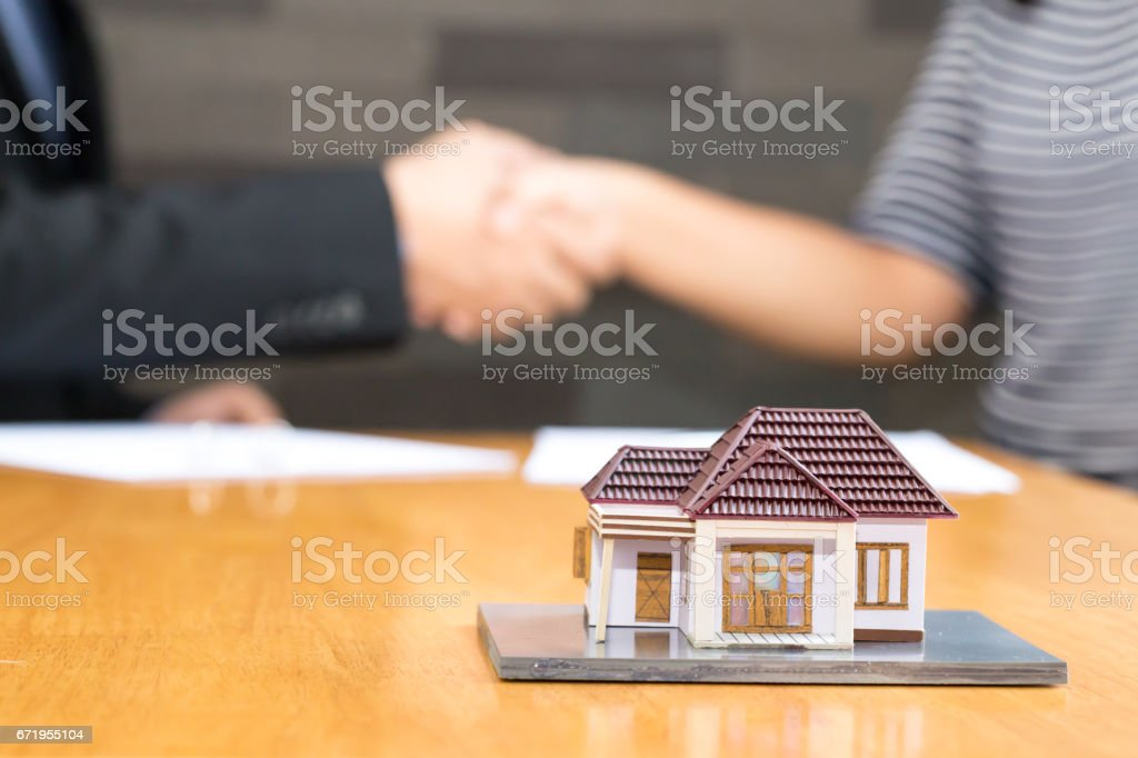 Banks approve loans to buy homes. Real Estate concept stock photo