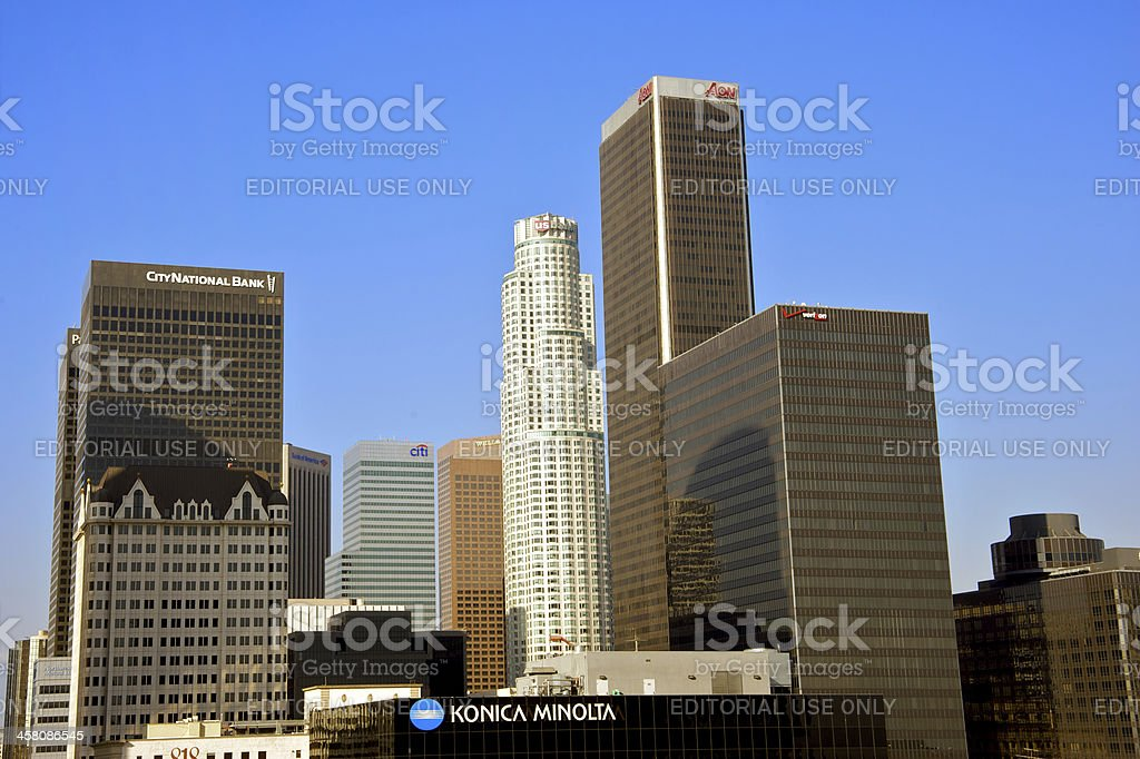 Banks in Downtown Los Angeles stock photo