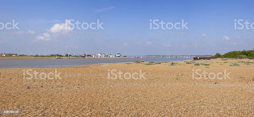 Banks of River Deben at Felixstowe Ferry and Bawdsey, Suffolk stock photo