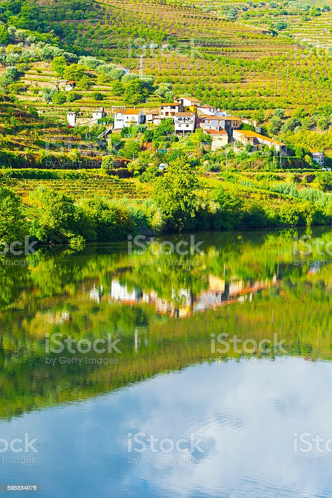 Banks of the River Douro stock photo