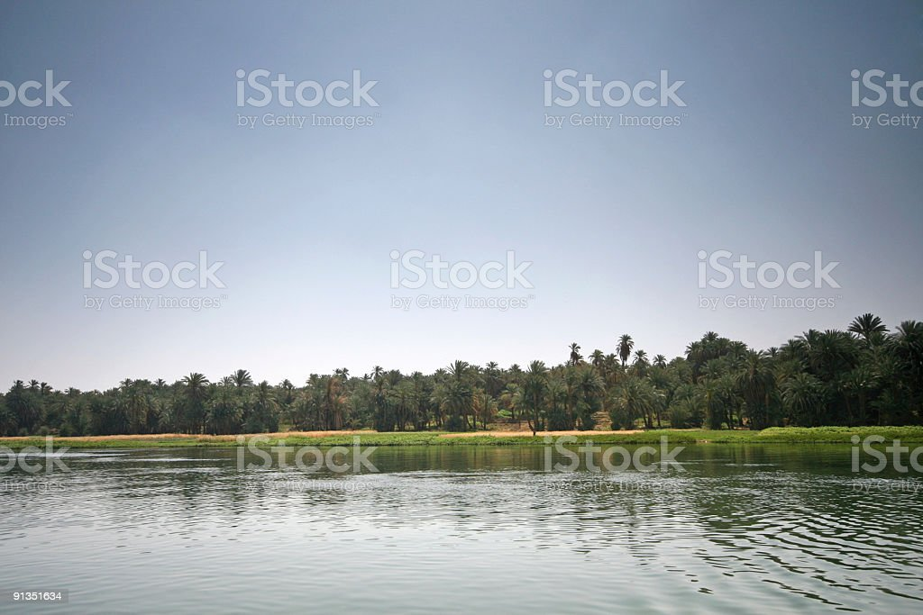 Banks of the River Nile royalty-free stock photo
