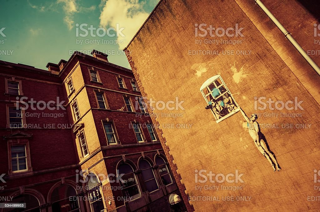 Banksy's Bristol Icon stock photo