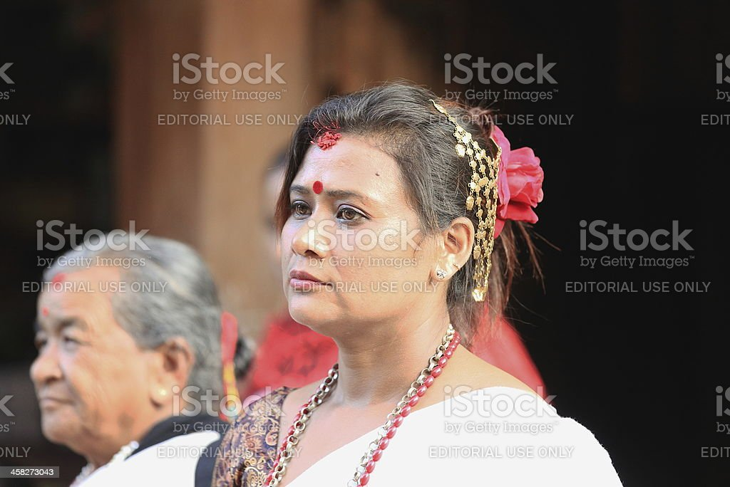 Banlamha Mayaju Beauty Contest organization member. Bandipur-Nepal. 0378 royalty-free stock photo