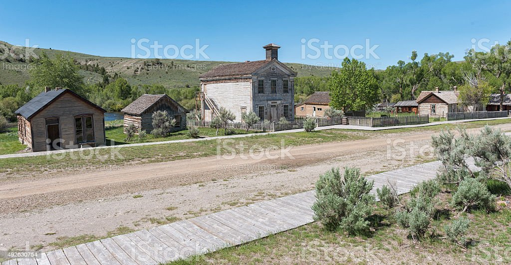 Bannack Ghost Town Main Street View stock photo