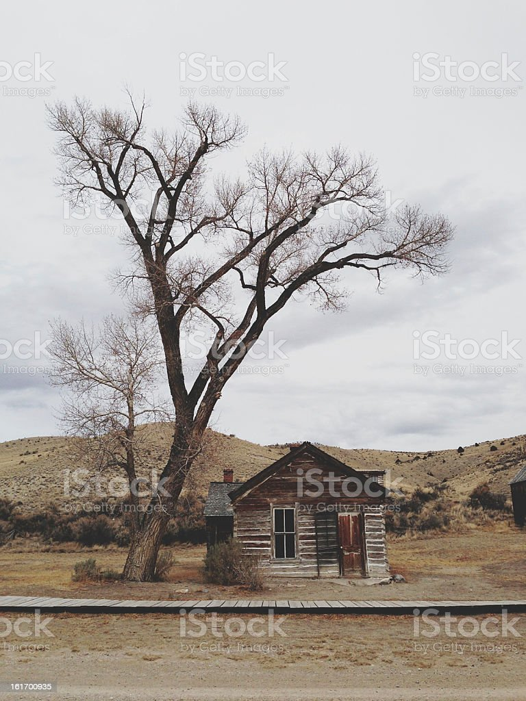 Bannack Ghost Town stock photo