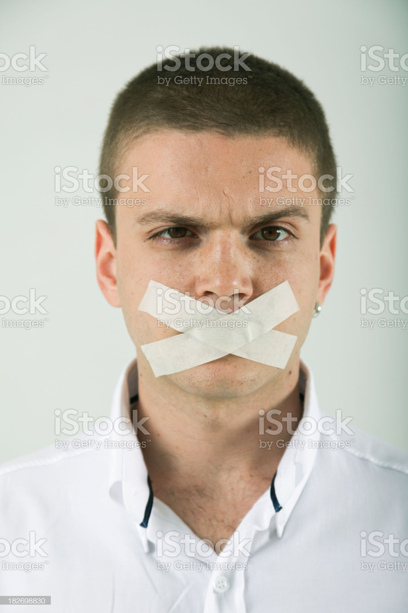 Banned Young Man royalty-free stock photo