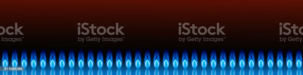 Banner for the site selling natural gas. stock photo
