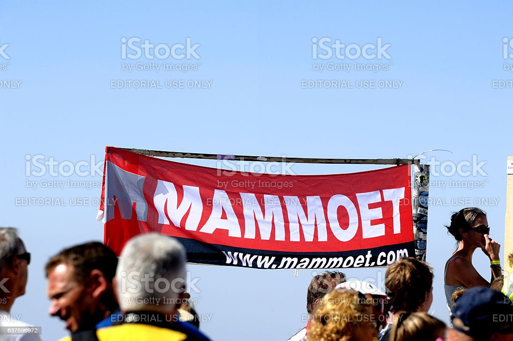 Banner of a Dutch company Mammoet stock photo
