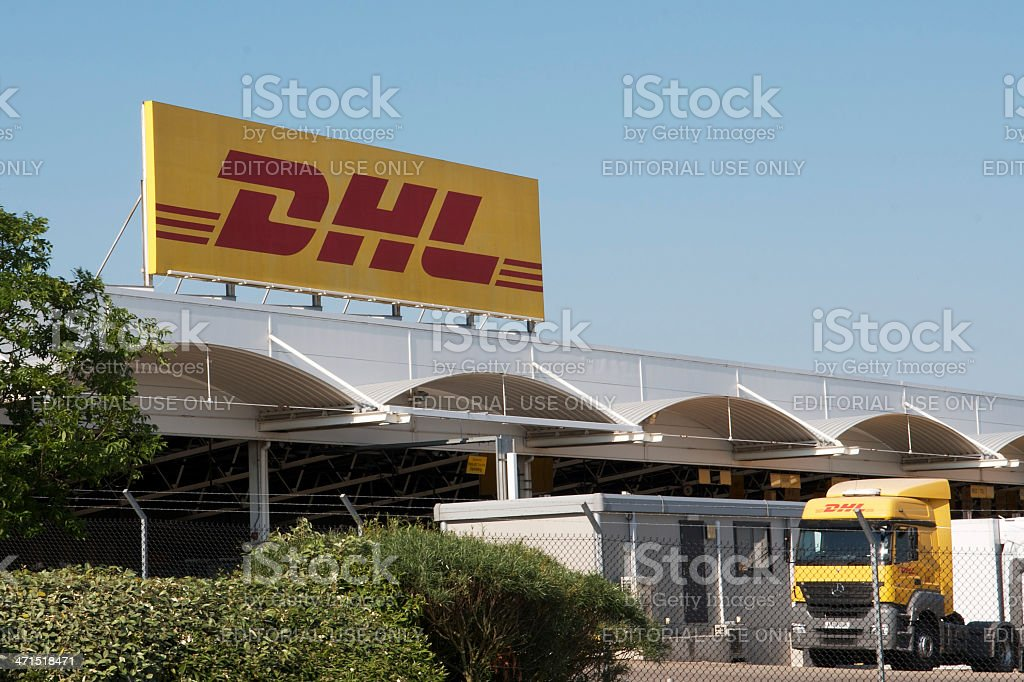 DHL Banner royalty-free stock photo