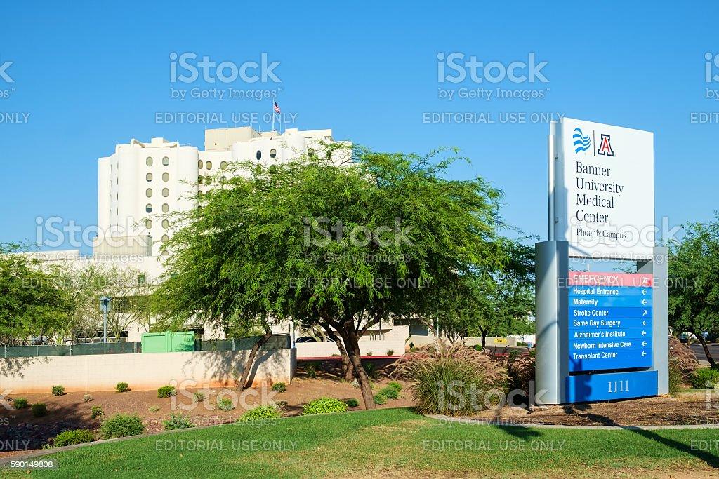 Banner University hospital, Phoenix, AZ stock photo